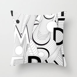 History of Art in Black and White. Postmodern Throw Pillow