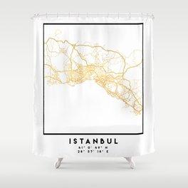 ISTANBUL TURKEY CITY STREET MAP ART Shower Curtain