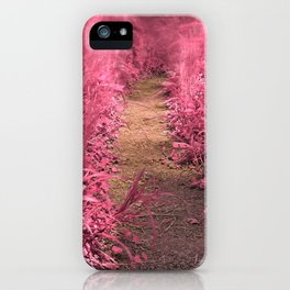 Windy Goose Creek Trail - Tickle Me Pink iPhone Case