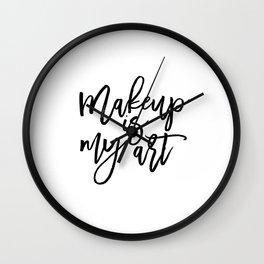 MAKEUP PRINT, Women Gift,Gift For Her,Makeup Salon Decor,Makeup Artist,Fashion Print,Fashion Quote,M Wall Clock