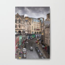 Victoria Street in Edinburgh, Scotland Metal Print