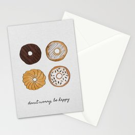 Donut Worry Stationery Cards