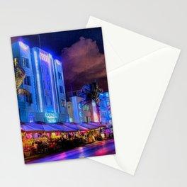 South Beach Miami City Lights by Jeanpaul Ferro Stationery Cards