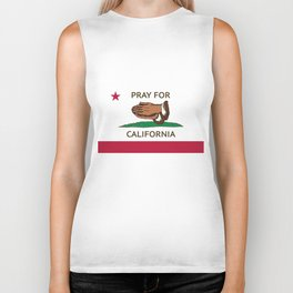 Pray for Cali  Biker Tank