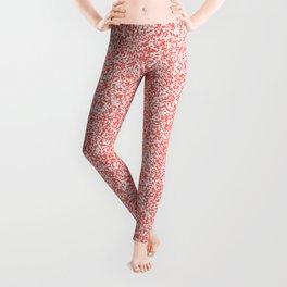 Spacey Melange - White and Pastel Red Leggings