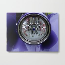 Hot Rod Mama Headlight Metal Print