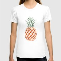 tote T-shirts featuring Pineapple  by basilique