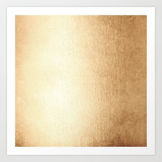 Simply Golden Copper Sun Art Print