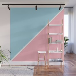Light Pink and Ice Blue Abstract Wall Mural