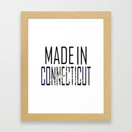 Made In Connecticut Framed Art Print