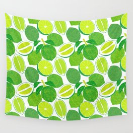 Lime Harvest Wall Tapestry