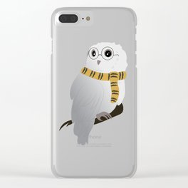 Hufflepuff Hedwig Clear iPhone Case