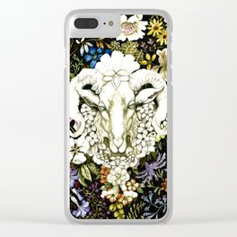 Spring Goat Original Watercolor Clear iPhone Case