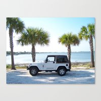 jeep Canvas Prints featuring Jeep by Caleb Blank Photography