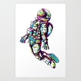 Space Fall Art Print
