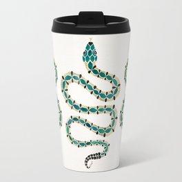 Emerald & Gold Serpent Travel Mug