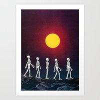the walking dead Art Prints featuring Walking Dead by AlyssaMichelle