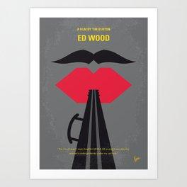 No924 My Ed Wood minimal movie poster Art Print