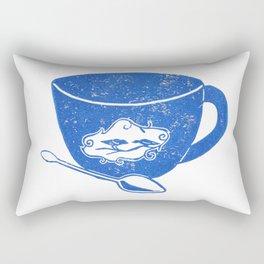 Bird Teacup Rectangular Pillow