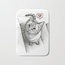 Cute Kitty Cat - Love Me Bath Mat