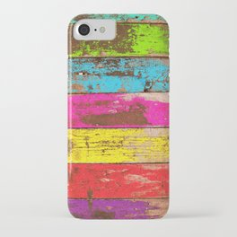 Vintage Colored Wood iPhone Case