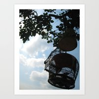 Bird Cages in Singapore Art Print