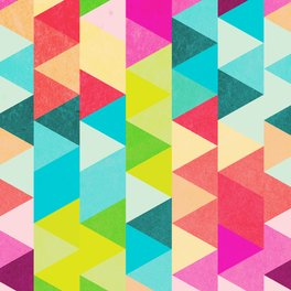 Notebook - Bubblegum Triangles Pattern - Tobe Fonseca