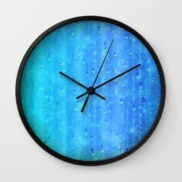 Wet Blue Wall Clock