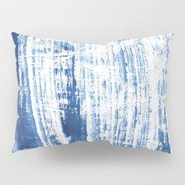 Steel blue streaked watercolor pattern Pillow Sham