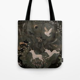 Spooky Forest with Ghosts Tote Bag