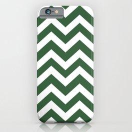 Hunter green - green color - Zigzag Chevron Pattern iPhone Case