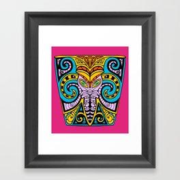King Squid Pink Framed Art Print
