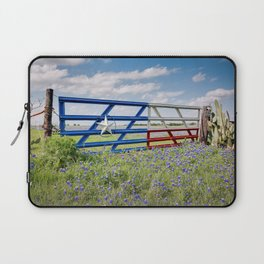 Lone Star Gate With Bluebonnets - Ennis, TX Laptop Sleeve