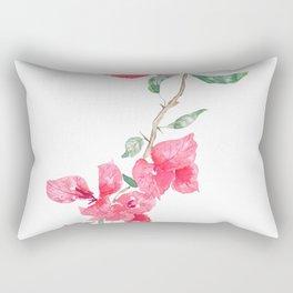 red  pink  bougainvillea watercolor Rectangular Pillow