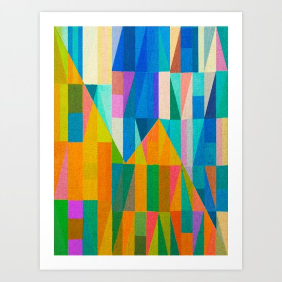 By Climbing Colors Art Print