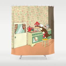 Dig in the BAKING Queen Shower Curtain