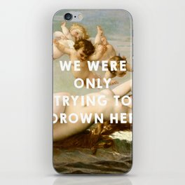 The Birth of Venus (1863), Alexandre Cabanel // The Little Mermaid (1989), Ron Clements&John Musker iPhone Skin