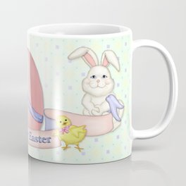 White Rabbit and Easter Friends Coffee Mug