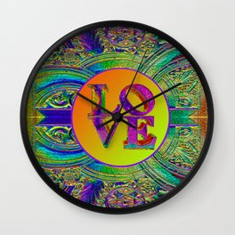 LOVE IN THE TIME OF ART DECO Wall Clock