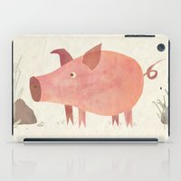 pig iPad Cases featuring Pig by Michelle McGaughey