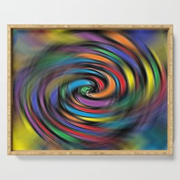 Colorful Vibrations Serving Tray