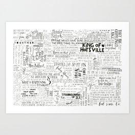 Dear Diary... Art Print