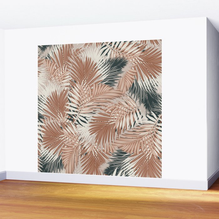 Neutral Palm Leaves / Nomade Mood Wall Mural