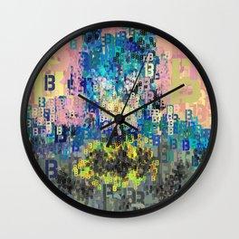 Bat Type Man - Abstract Pop Art Comic Wall Clock