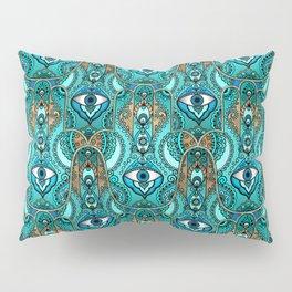 Hamsa Hand -Hand of Fatima Pattern Pillow Sham