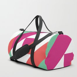 Hot Pink, Neon Grapefruit and Neon Turquoise Color Block Duffle Bag