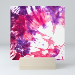 Modern Artsy Abstract Neon Pink Purple Tie Dye Mini Art Print