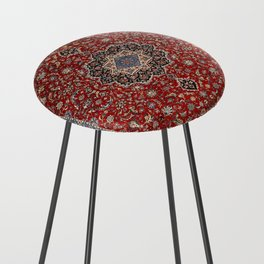 N63 - Red Heritage Oriental Traditional Moroccan Style Artwork Counter Stool