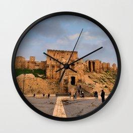 The Castle of Aleppo Wall Clock