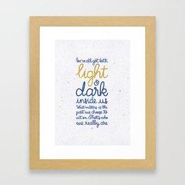 Light and dark inside us Framed Art Print